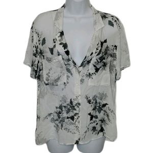 Anthropologie || Cloth & Stone Floral Shirt